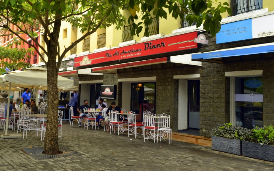 American food on a platter: The All American Diner, Lavasa