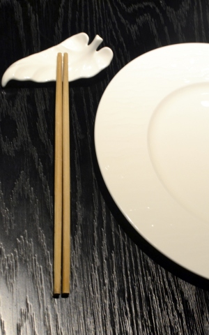 The Ruka signature chopsticks set-up