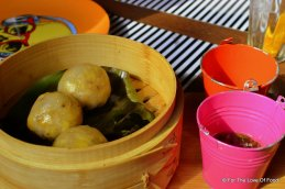 Yellow Corn and Roasted Garlic Dimsums