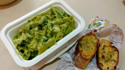 5. Creamy Pesto and Garlic Bread